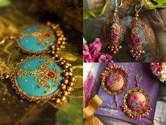 What a delicate work!!  Earrings by Jennifer Morris @ http://www.etsy.com/shop/jennifermorrisbeads