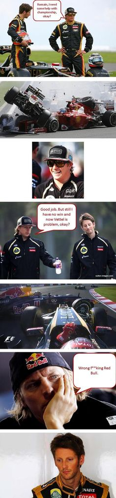 #KimiRaikkonen and #RomainGrosjean photo story via daily-sports #F1