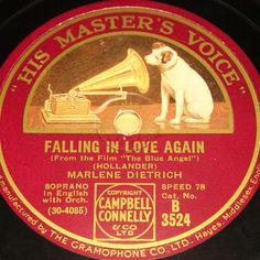MARLENE DIETRICH & Weintraubs Syncopators  Falling in Love again  HMV 78rpm 10