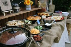 Marigold Mom: Rustic Western Cowboy Birthday Party - I like the chili bar idea for food! Chili Bar Party, Cowboy Birthday, Cowgirl Party, Fall Birthday, Anniversaire Cow-boy, Chili Cook Off, Harvest Party, Western Parties, Frijoles