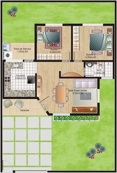 Maybe tack on the master suite off of the kitchen? Home Building Design, Home Design Plans, Plan Design, Building A House, Small House Floor Plans, Simple House Plans, Sims House Design, Small House Design, House Layout Plans