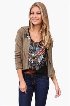 Toggle Cardigan in Taupe #Fall #fashion Get 8% cash back http://www.studentrate.com/itp/get-itp-student-deals/Necessary-Clothing-Student-Discount--/0