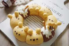 Winnie the Pooh pull apart bread by Agnes iing (@agnes_chii)