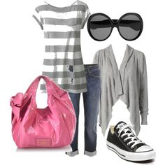 pink and grey, created by jlvetock.polyvore.com