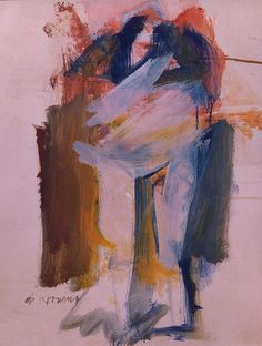tree by stream: Willem de Kooning Willem De Kooning, Action Painting, Painting & Drawing, Expressionist Artists, Art Moderne, Guernica, Oeuvre D'art, Figurative Art, Les Oeuvres