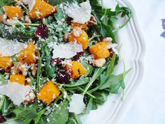 A Beautiful Mess: Roasted Butternut Squash Salad with Warm Cider Vinaigrette