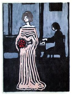 Wassily Kandinsky - La chanteuse (The Singer), 1903. ◉ [Stadtische Galerie in Lenbach, Munich, Germany]