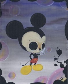 oil on canvas. it was all started by a mouse Creepy Disney, Cute Disney, Disney Art, Disney Pics, Walt Disney, Mickey Mouse Art, Mickey Mouse And Friends, Minnie Mouse, Amazing Drawings