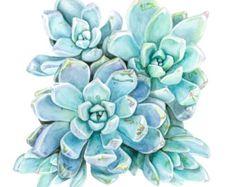 carré imprimé de peinture aquarelle originale  Limpression est créée avec les encres darchivage et darchivage papier sans acide.   Jaime les