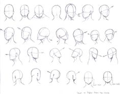 drawing manga heads from different angles - Google Search