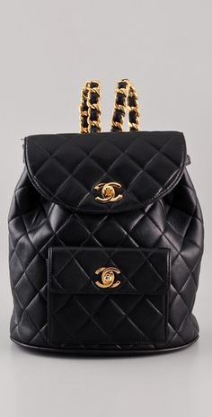 Check out this Vintage Chanel quilted backpack for $885, get it here: http://rstyle.me/g6xqtpmtu6