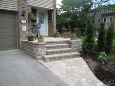 small raised patio
