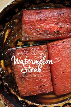 Did someone say oven-roasted-watermelon-steak? // Live Eat Learn