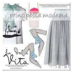 """principessa moderna"" by mirisproleca ❤ liked on Polyvore featuring RED Valentino, Miu Miu and modern"