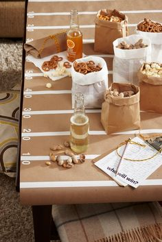 How to set a Football Table.  Super Bowl party idea!