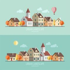 Find Flat Design Urban Landscape Autumn Vector stock images in HD and millions of other royalty-free stock photos, illustrations and vectors in the Shutterstock collection. Building Illustration, Flat Design Illustration, House Illustration, Landscape Illustration, Digital Illustration, Graphic Illustration, Ppt Design, Icon Design, Vector Design