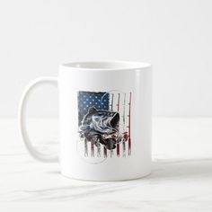 Fishing American Flag Vintage Tshirt USA Bass Fish Coffee Mug   fishing diy projects, fishing promposal, fishing boutineer #thetugisthedrug #wildtrout #dryfly, 4th of july party Fisherman Gifts, Fishing Quotes, 4th Of July Party, Bass Fishing, Party Hats, Funny Gifts, American Flag, Photo Mugs, Coffee Mugs