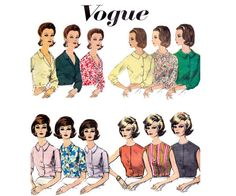 60s Basic Proportioned Blouse Pattern by allthepreciousthings