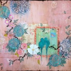 My paintings evoke the hand-painted, timeworn walls of a grand old Parisian mansion, each piece resembling an aged decorative panel adorned with birds and flowers, vines and leaves in a m… Gold Ink, Decorative Panels, Beautiful Dream, Chinoiserie, Vines, Hand Painted, Abstract, Flowers, Vintage