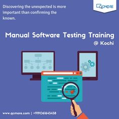 Learn Manual Software Testing at QC More and make the fist step of your professional career. Learn more https://goo.gl/WrALPA  For enquiry +919061645458