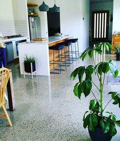 Concrete Flooring Salt & Pepper Salt and pepper polished concrete floor Kitchen installation: things Polished Concrete Kitchen, Concrete Kitchen Floor, Polished Concrete Flooring, Kitchen Flooring, Terrazo Flooring, Concrete Coatings, Floor Design, Architectural Presentation, Architectural Models