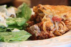 Mix and Match Mama: Dinner Tonight: Mushroom Spaghetti Casserole