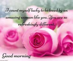 If you want to make her feel special, every morning then sending a romantic and cute good morning text for her to the best smile in the world is of your wife or girlfriend. Good Morning Hubby, Good Morning Love Messages, Good Morning Beautiful Quotes, Morning Wishes For Her, Morning Message For Her, Romantic Messages, Romantic Love Quotes, Compliments For Girls, Love Quotes For Girlfriend