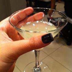 A delicious drink: green tea + saki (@ Cosmopolish Nail Bar)