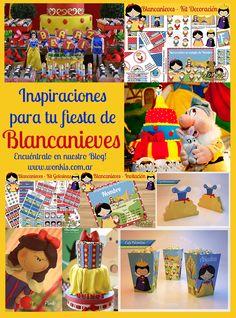 Fiesta Blancanieves: Collage de Ideas Blancanieves es una de las princesas más famosas y populares en las temáticas de fiestas infantiles. http://www.wonkis.com.ar/2014/06/fiesta-blancanieves-collage-de-ideas/