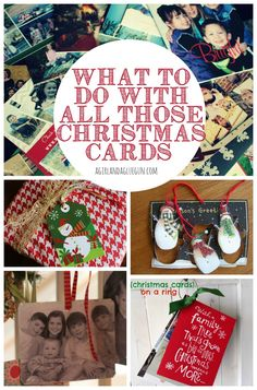 A great roundup of all the things you can do with those christmas cards!