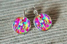 Mourek / Dúhovky Stud Earrings, Handmade, Jewelry, Earrings, Hand Made, Jewlery, Jewels, Stud Earring, Craft