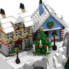 Lego Christmas Sets, Lego Christmas Village, Lego Winter Village, Christmas Gingerbread House, Miniature Christmas, Christmas Villages, Christmas Ideas, Lego Projects, Projects To Try