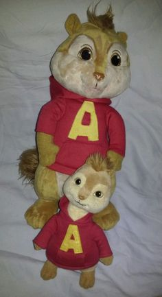 """TY Alvin Plush & 11"""" Alvin and the Chipmunks The Squeakquel Stuffed Toy #TY #Alvin&TheChipmunksSquealquelPlushToy #AlvinFromAlvinAndTheChipmunks"""