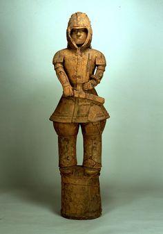 Warrior in keiko type armor (terra-cotta tomb figurine), Kofun period (6th century), National Living Treasure of Japan 埴輪 挂甲の武人(国宝)