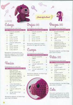 llavero Perrito Amigurumi en Crochet - Patrón Gratis en Español
