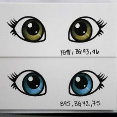 Colouring Eyes with Copics - bjl