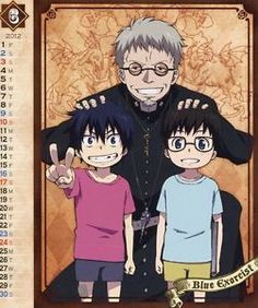 Rin and Yukio as kids so cute