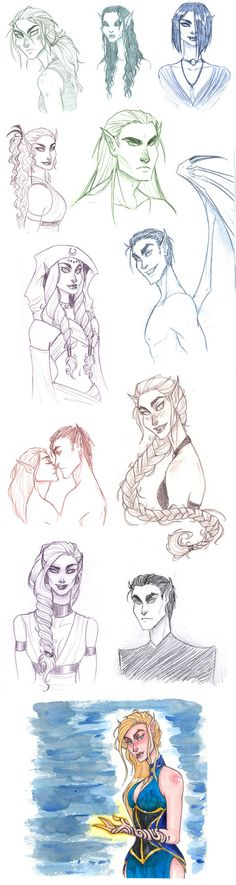 A Court of Thorns and Roses sketch dump by TroubleTrain on Deviantart