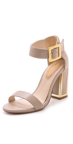 { Kate Maconie London Marie Ankle Strap Sandals }