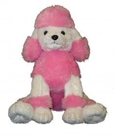 "Singing 16"" plush Satin Poodle which plays custom music featuring your child's name."