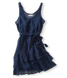 Lace Shift Dress - Aeropostale