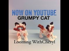 Rainbow Loom Grumpy Cat - Looming WithCheryl. Tutorial is  Now on YouTube! charms / figures / gomitas / gomas. Please Subscribe ❤️❤ m.youtube.com/user/LoomingWithCheryl