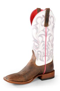 Macie Bean Vanilla White Cowgirl Boots - HeadWest Outfitters