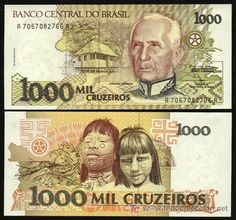 BRASIL. Billete de 1000 cruzeiros 1991