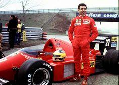 """""""Voglio un pilota azzurro sulla Rossa."""" #Marchionne e #Arrivabene, prendete un driver italiano in #Ferrari! L'ultimo è stato Michele #Alboreto che vedete nella foto. Anche voi la pensate così? #FormulaGP"""