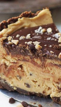 Sweet and Salty Peanut Butter Chocolate Mousse Torte