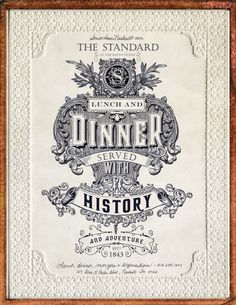Typography / Smothhouse 1843