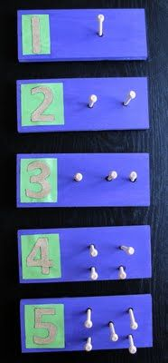 DIY Counting boards with sandpaper numbers montessori