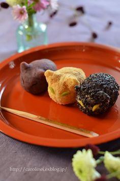 秋分の日のおはぎ Homemade Ohagi of Autumnal Equinox Day : お茶の時間にしましょうか-キャロ&ローラのちいさなまいにち- Caroline & Laura's tea break