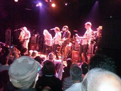 Broken Social Scene playing Anthems for a 17 year old girl performed with Emily Haines at Music Hall of Williamsburg May 10th 2010 http://www.brooklynvegan.com/archives/2010/05/broken_social_s_37.html
